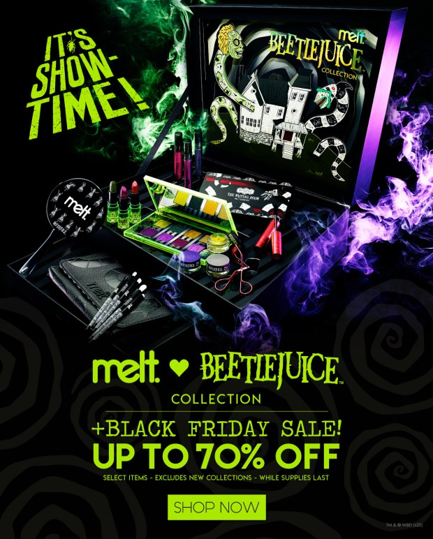 Melt Cosmetics 2020 Black Friday Sale Free Shipping NEW Beetlejuice Collection Canadian Deals - Glossense