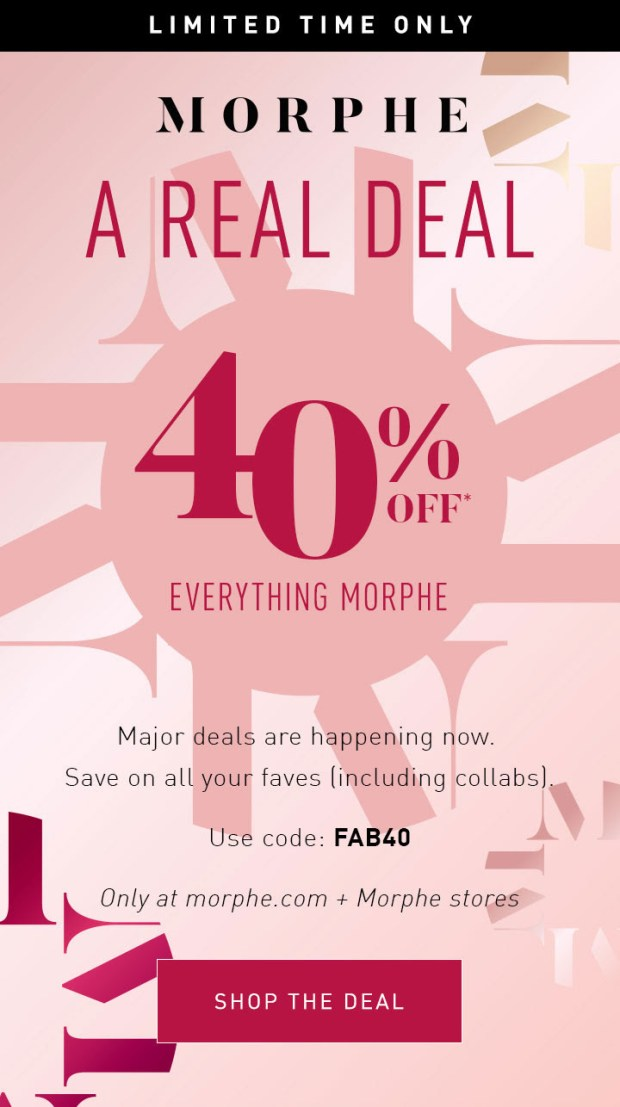 Morphe Canada 2020 Black Friday Sale Canadian Deals Promo Code - Glossense