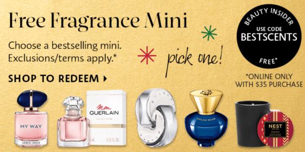 Sephora Canada Free Fragrance Perfume Mini Armani Beauty Nest Versace Guerlain Bvlgari - Glossense