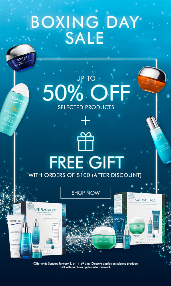 Biotherm Canada 2020 Boxing Day Sale Boxing Week Canadian Deals - Glossense