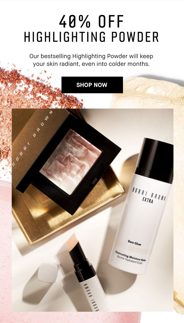 Bobbi Brown Cosmetics Canada Save on Highlighting Powder Canadian Sale Deal - Glossense