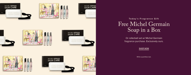 Hudson's Bay Canada Free Fragrance Gift Shop Michel Germain Free Gifts 2020 - Glossense