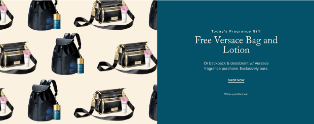Hudson's Bay Canada Free Fragrance Gift Shop Versace Free Gifts 2020 - Glossense