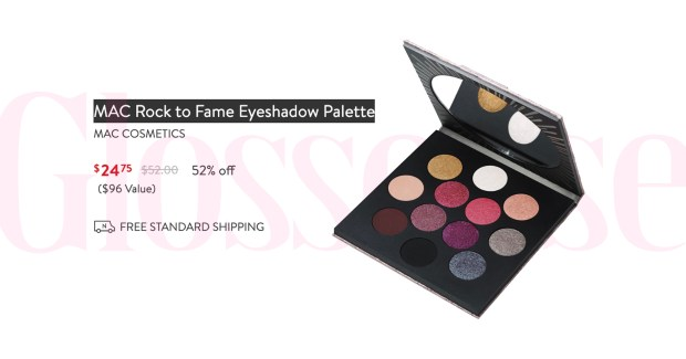 Nordstrom Canada MAC Cosmetics Rock to Fame Eyeshadow Palette HOT Canadian Deals Sale - Glossense