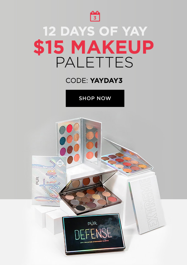 PUR Cosmetics Canada 12 Days of Yay 2020 Canadian Deals Sales Day 3 Save on Palettes - Glossense
