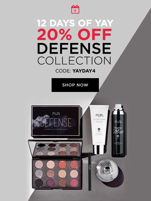 PUR Cosmetics Canada 12 Days of Yay 2020 Canadian Deals Sales Day 4 Save on Defense Collection - Glossense