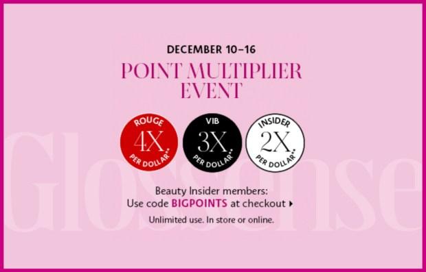 Sephora Canada Holiday 2020 Point Multiplier Event December 10 - 16 2020 Beauty Insider Member Deals Canadian Promo Code - Glossense