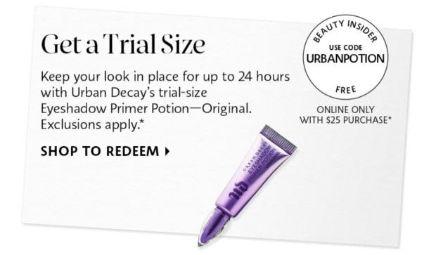 Sephora Canada Promo Code Free Urban Decay Ption Primer - Glossense
