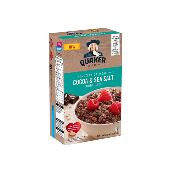 Shopper Army Canada Apply to Try Review Quaker Cocoa Sea Salt Flavour Instant Oatmeal free - Glossense
