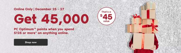 Shoppers Drug Mart Canada Get 45000 PC Optimum Points 125 Purchase Boxing Day 2020 - Glossense