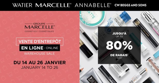 Groupe Marcelle Canada Online Warehouse Sale Winter 2021 Canadian Deals - Glossense