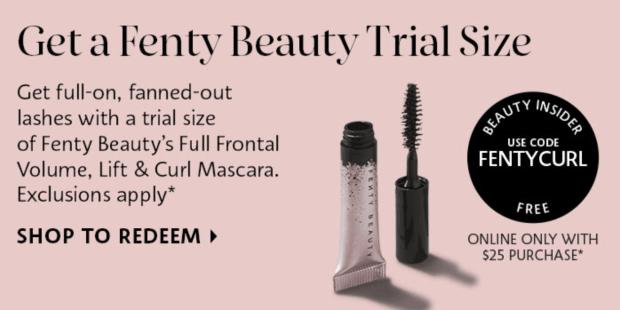 Sephora Canada Free Fenty Beauty Full Frontal Mascara Deluxe Mini Sample - Glossense