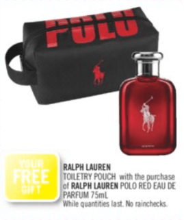 Shoppers Drug Mart Canada Shop Ralph Lauren Red EDP Receive Free Toiletry Pouch - Glossense