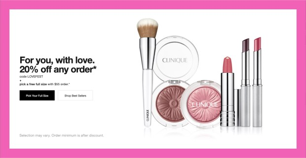 Clinique Canada Valentine's Day Sale 2021 Canadian Deals Freebies - Glossense
