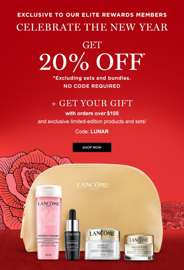 Lancome Canada Lunar New Year 2021 Sale Free Gift Canadian Deals - Glossense