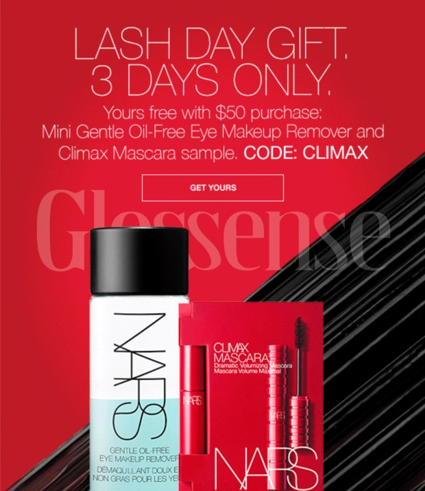 Nars Cosmetics Canada Free National Lash Day Gift 2021 Canadian Deals - Glossense