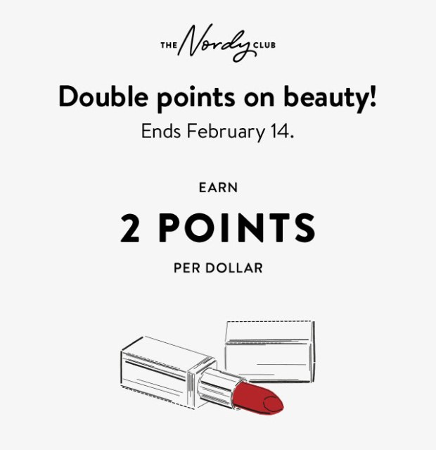 Nordstrom Canada Double Points on Beauty Nordy Club Canadian Deals Feb 14 2021 - Glossense