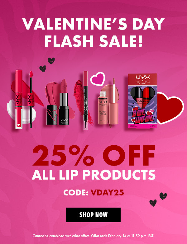 Nyx Cosmetics Canada Valentine's Day Sale Canadian Deals 2021 - Glossense