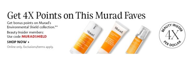 Sephora Canada Get 4x Beauty Insider Points WUB Murad Environmental Shield Products - Glossense