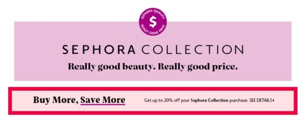 Sephora Canada Sephora Collection Save More Canadian Deal 2021 - Glossense