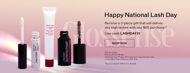 Shiseido Canada Free National Lash Day Gift Canadian Deals GWP - Glossense
