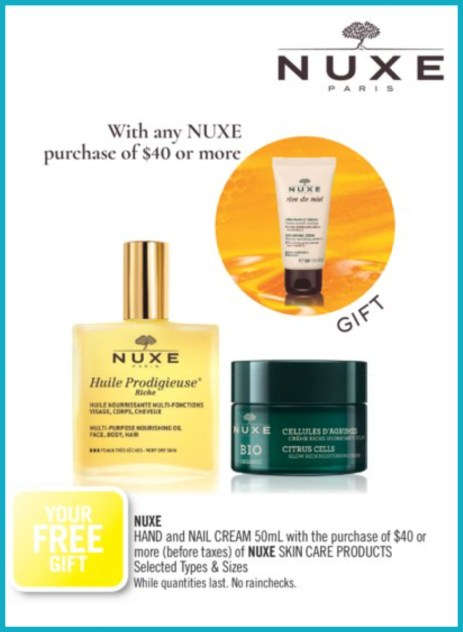 Shoppers Drug Mart Canada GWP Free Nuxe Gift - Glossense