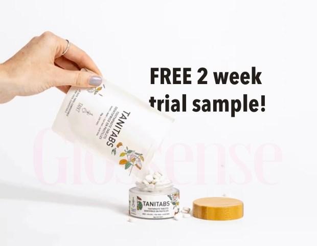 Canadian Freebies Free Tanitabs Solid Toothpaste 2 Week Trial Sample Tanit Canada - Glossense