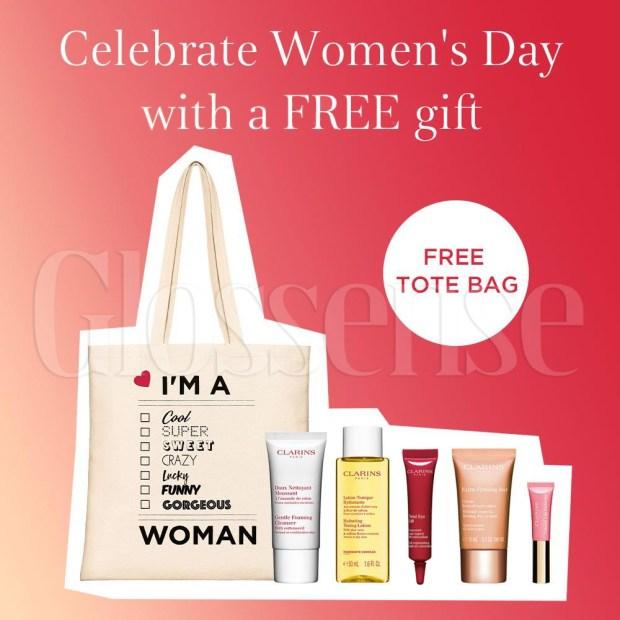 Clarins Canada International Women's Day 2021 Free Tote Bag Gift Set - Glossense