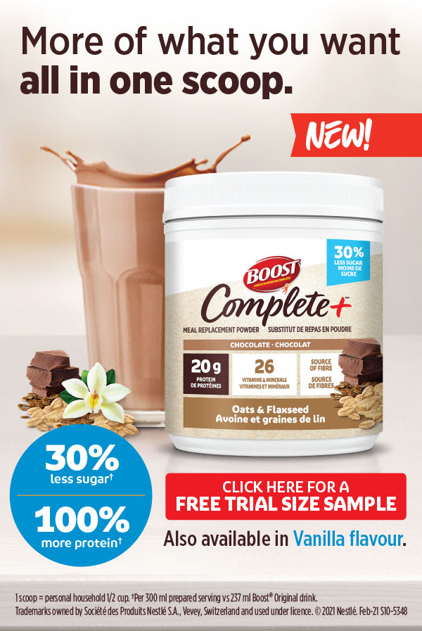 SampleSource Canada Free Boost Chocolate or Vanilla Complete Nutritional Drink Powder Sample - Glossense