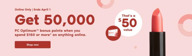 Shoppers Drug Mart Canada Get 50000 PC Optimum Points March 31 April 1 21 - Glossense
