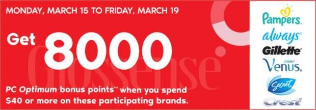 Shoppers Drug Mart Canada Shop Brands Get PC Optimum Points Canadian Deals March 2021 - Glossense