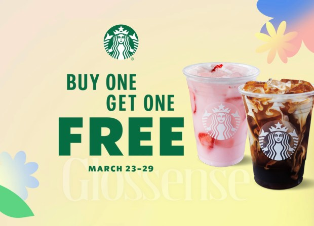 Starbucks Canada Buy One Get One Free Spring 2021 - Glossense