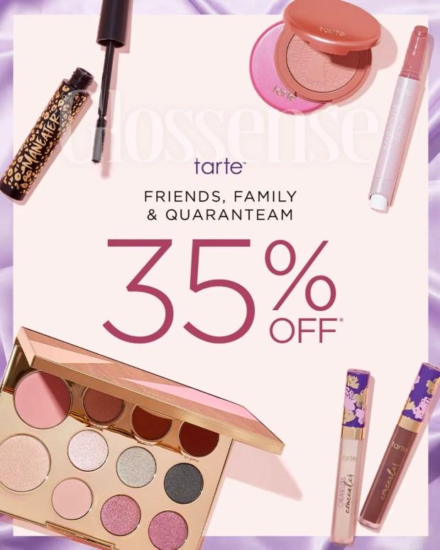 Tarte Cosmetics Canada Friends Family Sale Spring 2021 Canadian Deals Coupon Code - Glossense