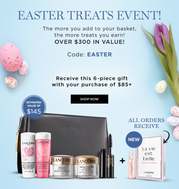 Lancome Canada Easter Treats Event Spring 2021 Canadian Deals - Glossense