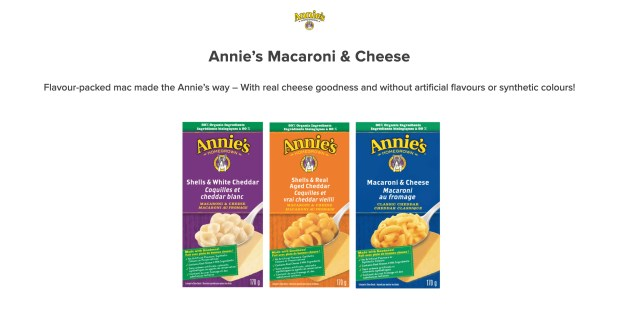 Sampler Canada Free Annie's Macaroni and Cheese Sample - Glossense