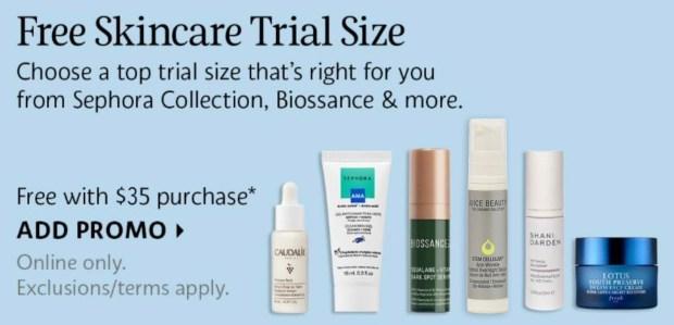 Sephora Canada Promo Code Choose a Free Deluxe Mini Skincare Sample Spring 2021 GWP - Glossense