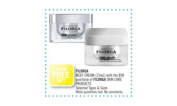 Shoppers Drug Mart Canada Free Filorga Gift April 2021 - Glossense