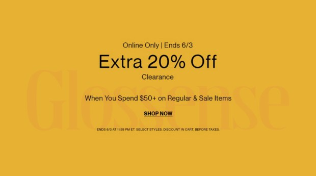 Hudson's Bay Canada Save on Clearance Extra Discount Sale - Glossense