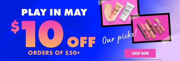 Nyx Cosmetics Play in May Sale Canadian Deals 2021 - Glossense