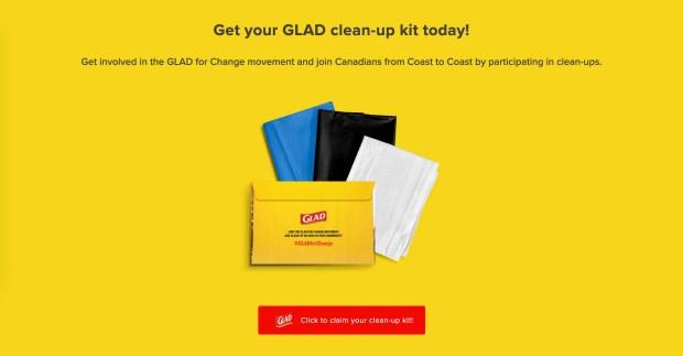 Sampler Canada Free Glad Clean Up Kit - Glossense