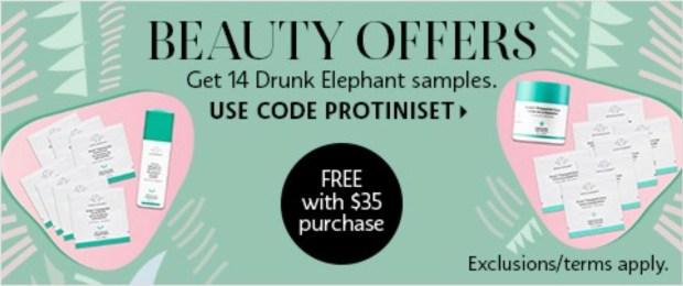 Sephora Canada Promo Code Free Drunk Elephant Protini Set - Glossense