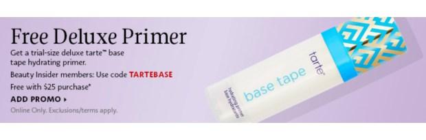 Sephora Canada Promo Code Free Tarte Cosmetics Base Tape Primer - Glossense