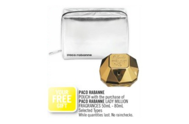 Shoppers Drug Mart Canada Free Paco Rabanne Lady Million Pouch - Glossense