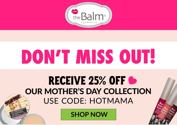 The Balm Cosmetics Canada Mother's Day Sale Canadian Deals 2021 - Glossense