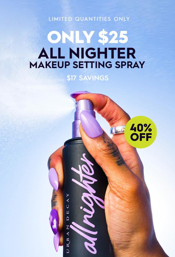 Urban Decay Cosmetics Canada All Night Setting Spray Sale 2021 - Glossense