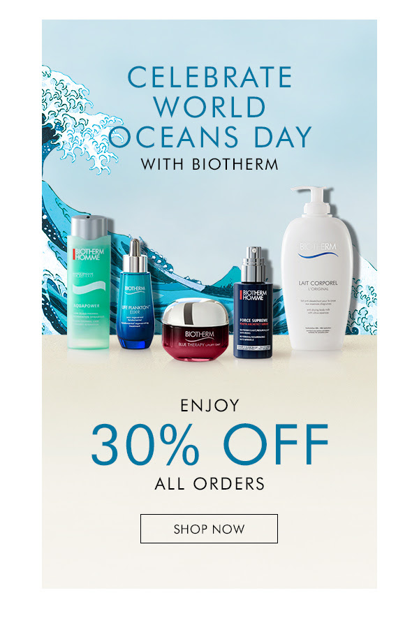 Biotherm Canada World Oceans Day Sale Canadian Deals 2021 - Glossense