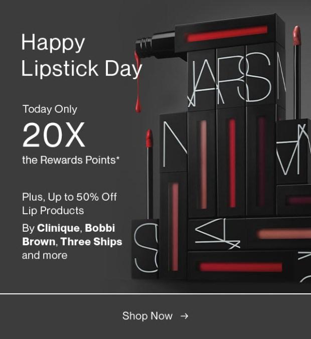 Hudson's Bay Canada National Lipstick Day 2021 Canadian Deals - Glossense