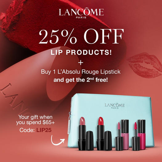 Lancome Canada National Lipstick Day 2021 Canadian Deals - Glossense
