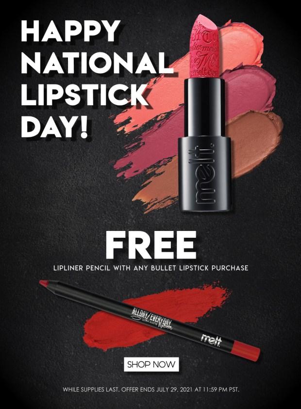 Melt Cosmetics Canada National Lipstick Day 2021 Canadian Deals - Glossense
