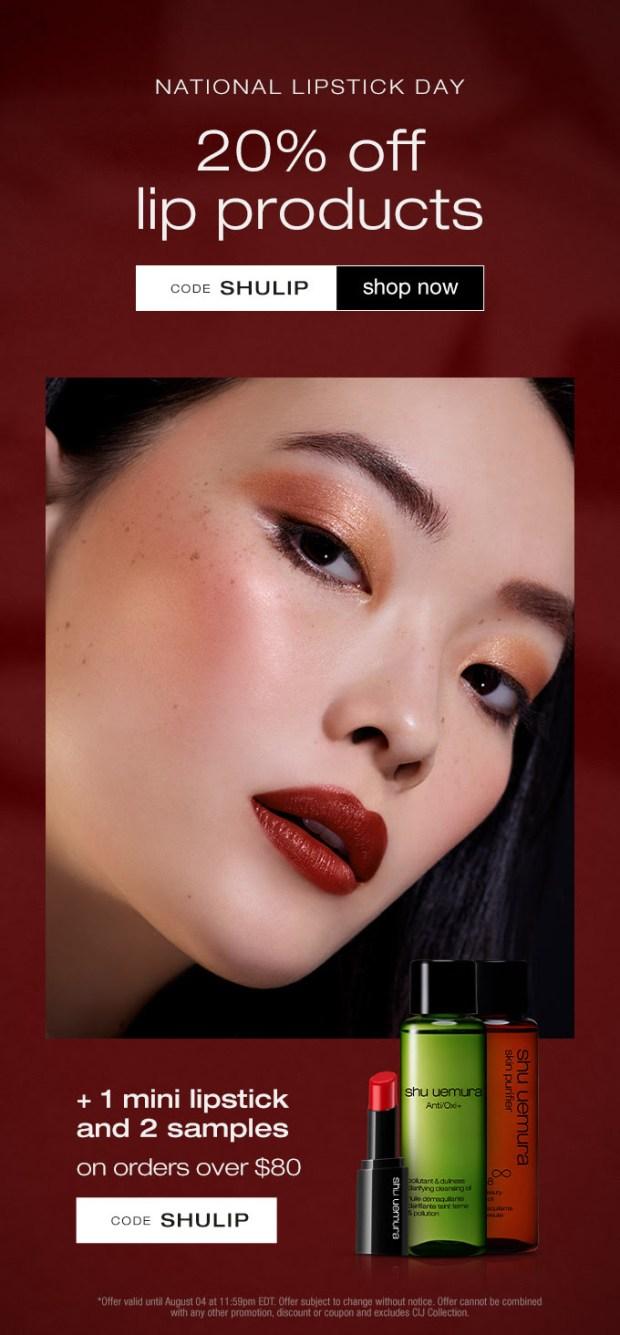 Shu Uemura Canada National Lipstick Day 2021 Canadian Deals - Glossense